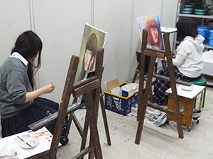 絵画科「自画像油彩」