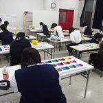 デザイン・工芸科、総合受験科「色彩対比」