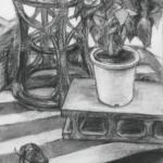 静物デッサン「木炭を使って質感の描き分けよう!」