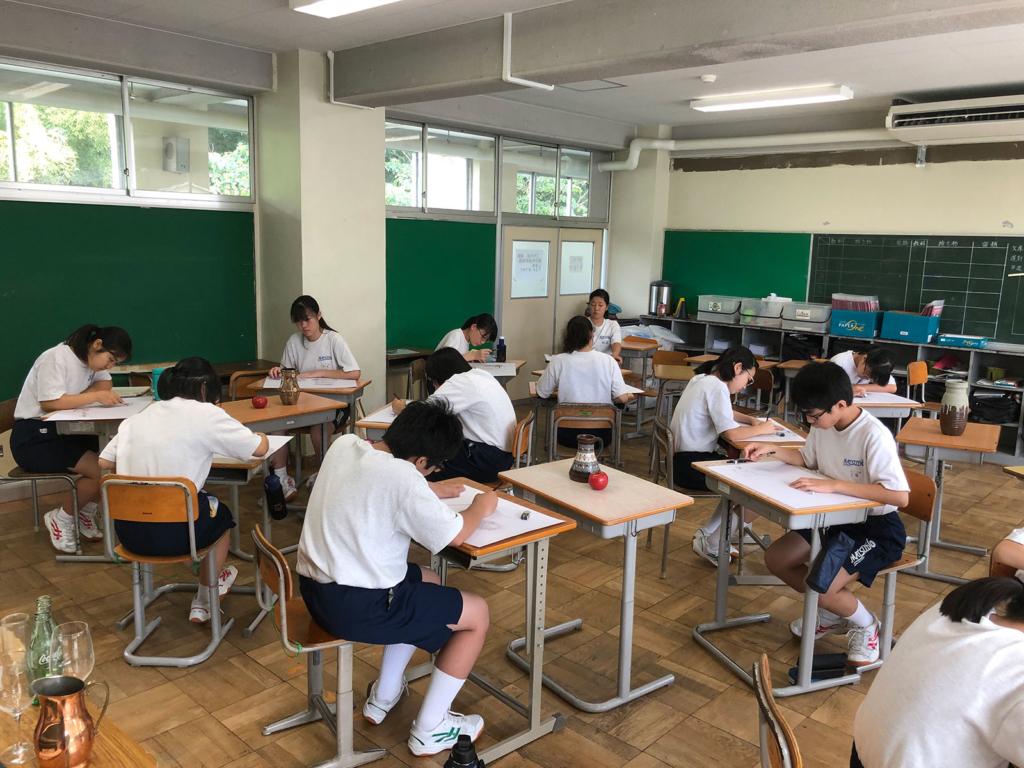 松戸市立第六中学校美術部特別講座