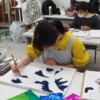 冬期講習会デザイン・工芸科の授業風景