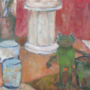 中学生美術科油絵体験授業作品