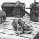 基礎科の木炭デッサン